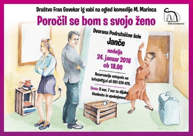 Gledaliska igra POROCIL SE BOM S SVOJO ZENO - Letak A5 2016 Jnace1